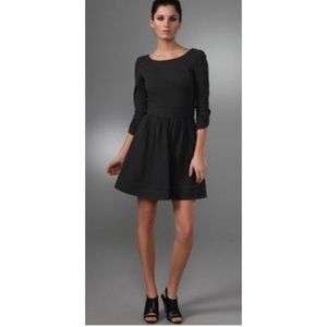 Diane Von Furstenberg Black Marjorie Mini Dress